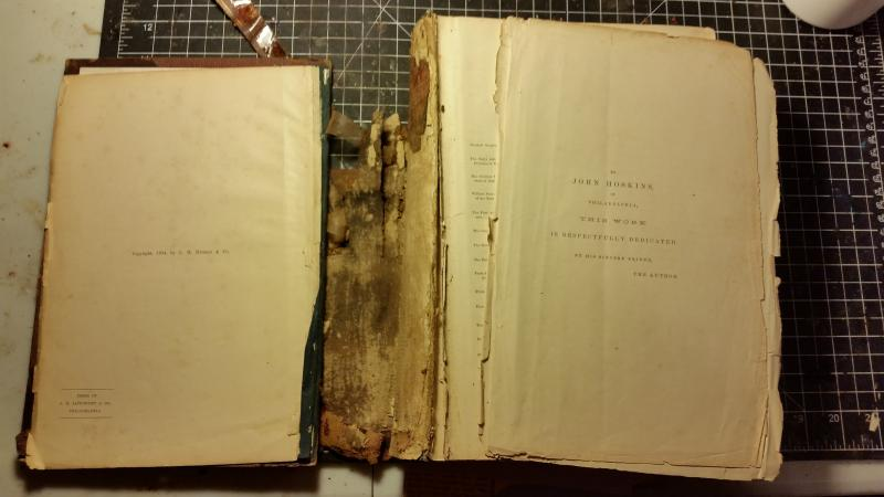 Repair Old Book Cover ~ Colonial bindery book repair services prices quot we
